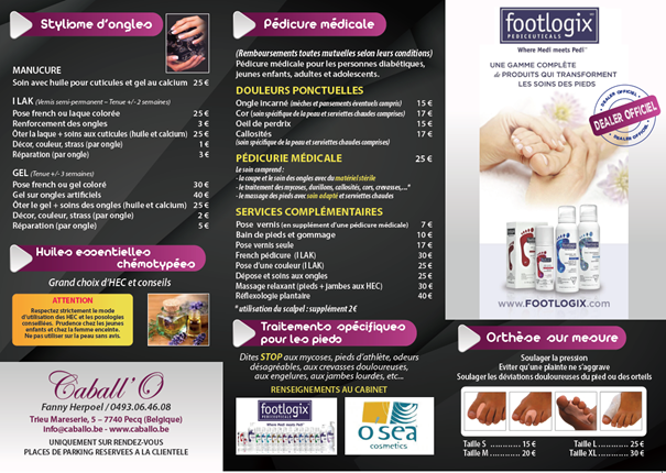 Tarif Caball'O Institut Page 2 2021