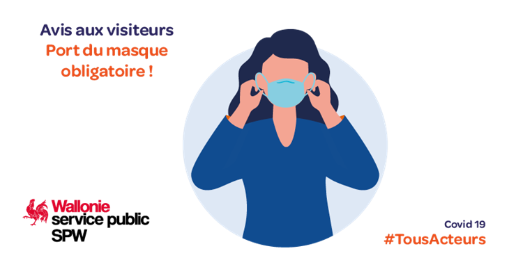Port du masque obligatoire - Règle coronavirus - Covid 19
